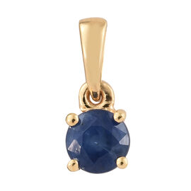 Kanchanaburi Blue Sapphire (Rnd) Pendant in 14K Gold Overlay Sterling Silver 0.500 Ct.