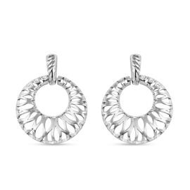 RACHEL GALLEY Infinite Collection- Rhodium Overlay Sterling Silver Earrings (with Push Back), Silver