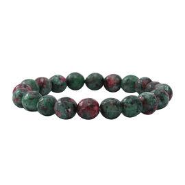 Ruby Zoisite  Bracelet (Size - 7.5)  Sterling Silver 100.00 ct