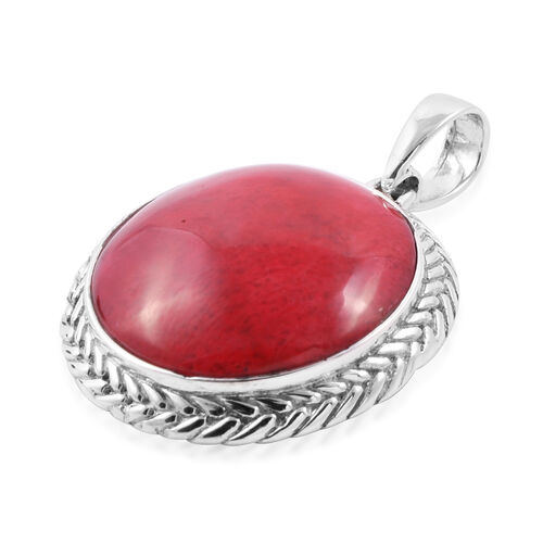 Royal Bali Collection - Sponge Coral (Rnd) Pendant in Sterling Silver