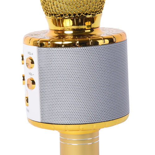 Wireless Multi-Functional Microphone - Golden