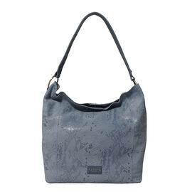 Assots London ESME Genuine Suede Leather Python Print Hobo Bag - Baby Blue