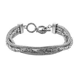 Royal Bali Collection Sterling Silver Bracelet (Size 7 - 7.5), Silver wt 28.90 Gms