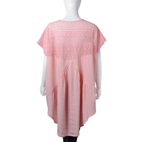 New Season- Cotton Pink Colour Apparel with Lace Shoulder (Size 85x65 Cm)