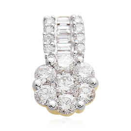 ILIANA 18K Yellow Gold IGI Certified (SI/G-H) Diamond (Rnd) Pendant 0.500 Ct.