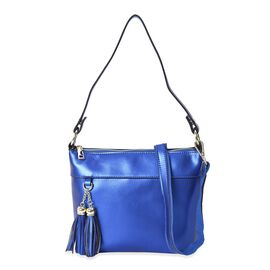 100% Genuine Leather Crossbody Bag with Detachable Shoulder Strap and Zipper Closure (Size 23x7.5x20