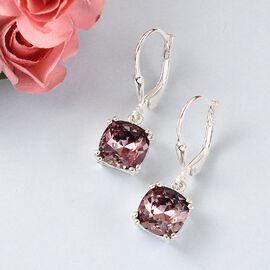 J Francis Crystal from Swarovski - Astral Pink Crystal Earrings in Sterling Silver