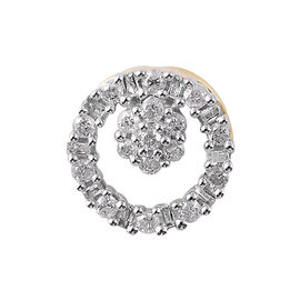 9K Yellow Gold SGL CERTIFIED Diamond (Rnd) (I3/G-H) Pendant 0.250 Ct.