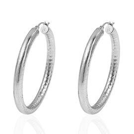 Designer Inspired- Stainless Steel Hoop Earrings (with Clasp)