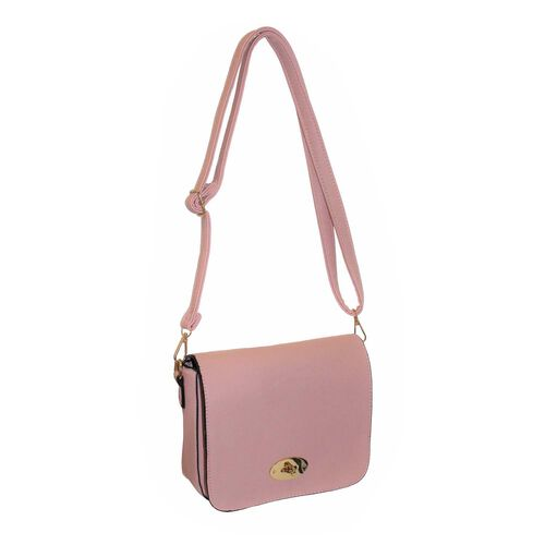 Design Look Classical  Nude Colour Handbag ( Size 18x21x7 Cm)