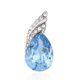 Biggest Swarovski Close Out- J Francis - Crystal from Swarovski Aquamarine Crystal (Pear), Swarovski