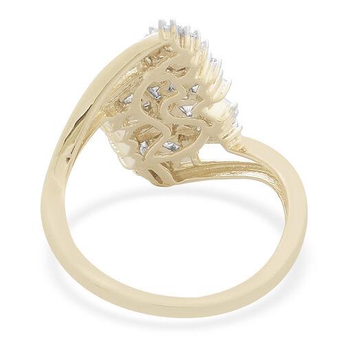 9K Yellow Gold SGL Certified Firecracker Diamond (Bgt) (I2-I3/G-H) Ring 0.500 Ct.