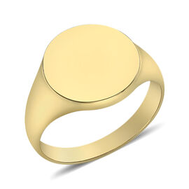 Round Signet Ring in 9K Yellow Gold 5.10 Grams