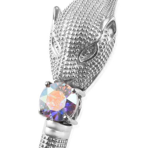 J Francis - Crystal from Swarovski AB Crystal (Rnd) Swarovski Bangle (Size 7.5)