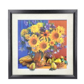 5D Sunflowers Painting (Size: 43.5x43.5x4.5 Cm) - Yellow and Multi