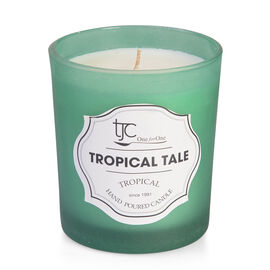 Home Sense - Scented Candle in Frosted Glass and Tropical Gift Box, Tropical Tale Scent