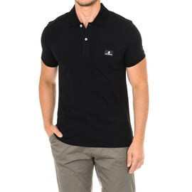Karl Lagerfeld Mens Basic Polo Short Sleeve T-Shirt in Black Colour
