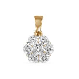 ILIANA 18K Yellow Gold IGI Certified Diamond (Rnd) (SI/G-H) Pendant 1.000  Ct.