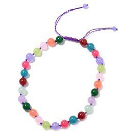 Designer Inspired-Multi Colour Quartzite (Rnd) Beads Necklace (Size 18) 522.000 Ct.