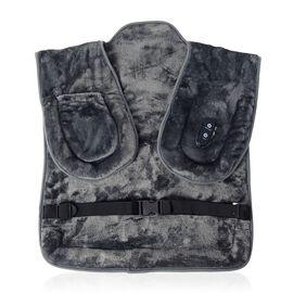 Super Auction - Portable 5V Micro Fleece Heat Wrap with 3 Heat Levels, Vibration Massage for Neck an
