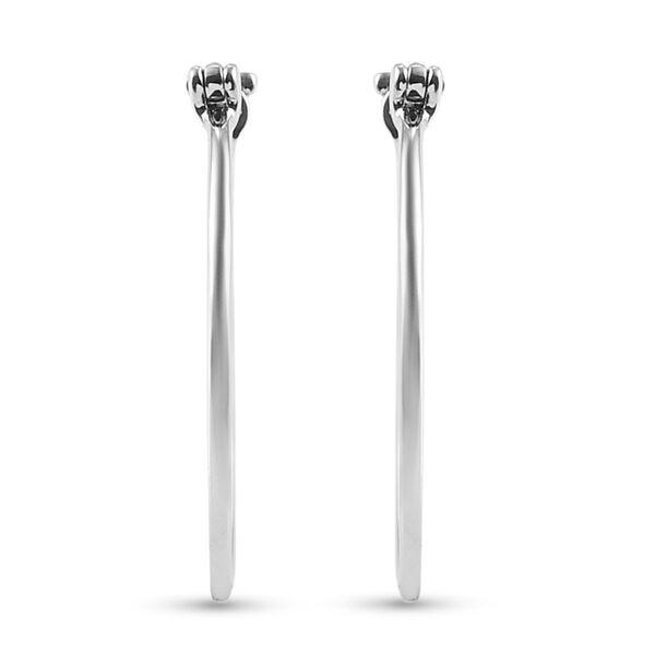 RHAPSODY 950 Platinum Hoop Earrings (with Clasp), Platinum Wt 3.58 Gms