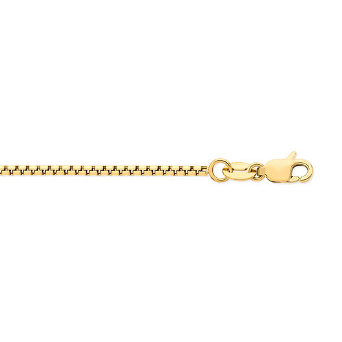 9K Yellow Gold Box Belcher Necklace (Size 18).Gold Wt 2.70 Gms