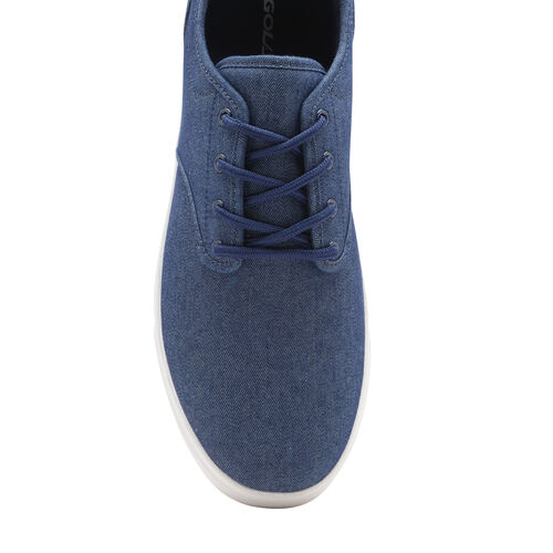 Gola Panama Lace Wide Fit Trainer (Size 7) - Navy and White