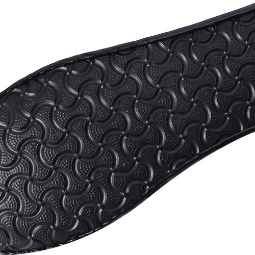 Set of 2 - Foldable Flat Ballet Shoe Each with Zipper Storage Pouch (UK 3-4) - Black and Metallic Black