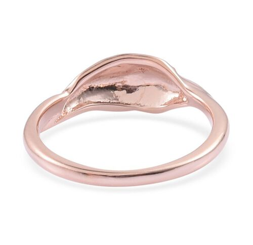 RACHEL GALLEY Rose Gold Overlay Sterling Silver Fallen Ring
