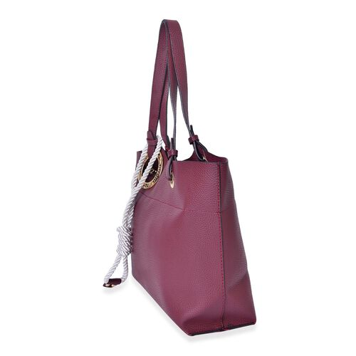 Burgundy Colour Tote Bag with Rope (Size 42X33X27X11 Cm)