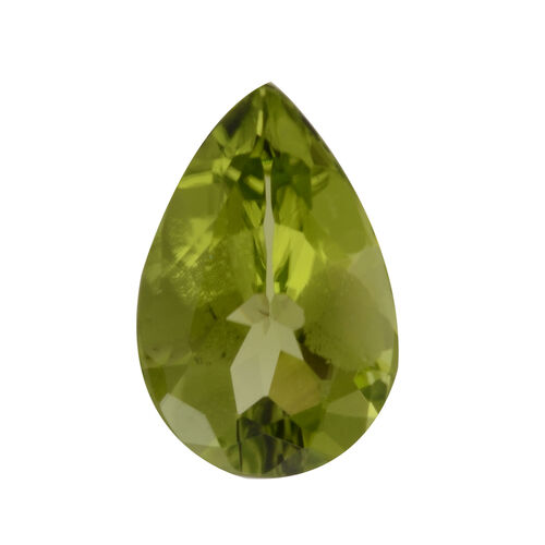 AA Peridot Pear 10.86x7.02x3.81 Faceted 1.80 Cts