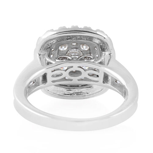 14K White Gold Diamond (Rnd) (I1/G-H) Ring 2.00 Ct., Gold wt. 6.40 Gms