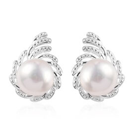 Freshwater Pearl Stud Earrings (with Push Back) in Sterling Silver
