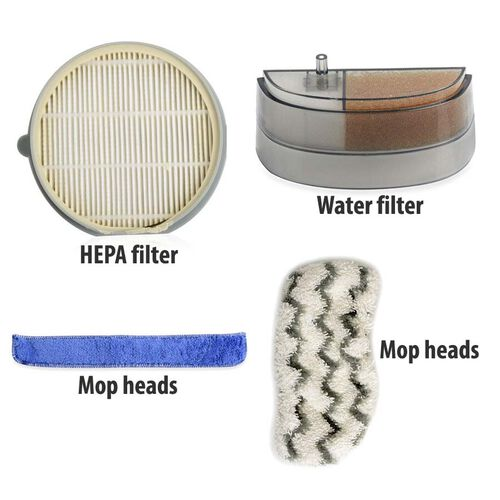 4 Piece Filter Set (Includes HEPA Filter, Water Filter and Two Mop Heads)