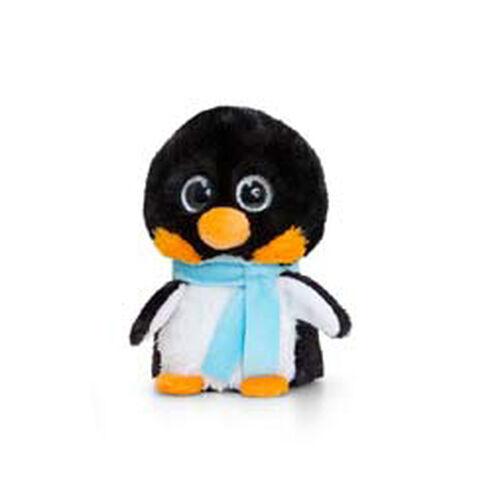Balck Penguin with Sky Blue Scarf 10cm