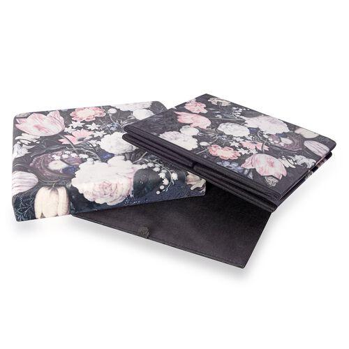 The Garden of Eden Printed Velvet Foldable Storage Ottoman (Size 38x38x38 cm)