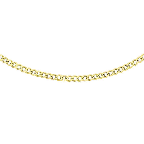 Hatton Garden Close Out 9K Yellow Gold Curb Chain (Size 20)