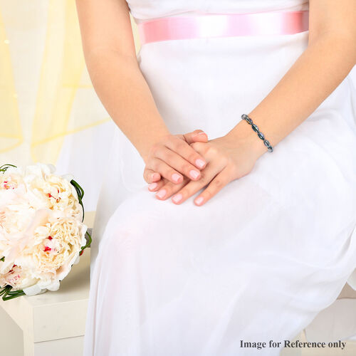 Simulated Mystic Topaz Beaded Stretchable Bracelet (Size 7.25)