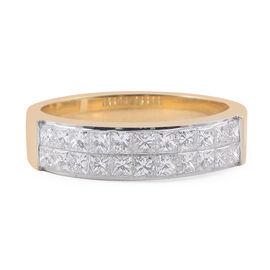 ILIANA 18K Yellow Gold (SI/G-H) Diamond (Sqr) Band Ring 1.000 Ct.