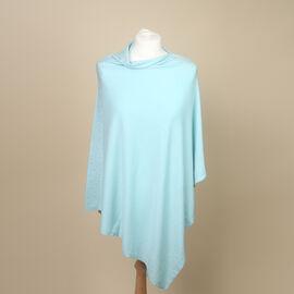 Kris Ana Diamonte Trim Poncho (One Size, Fits Approx 8-18) - Mint