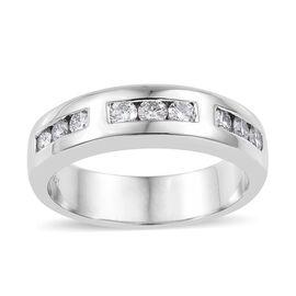 RHAPSODY 950 Platinum IGI Certified (VS/E-F) Diamond (Rnd) Band Ring 0.500  Ct, Platinum wt 9.29 Gms.