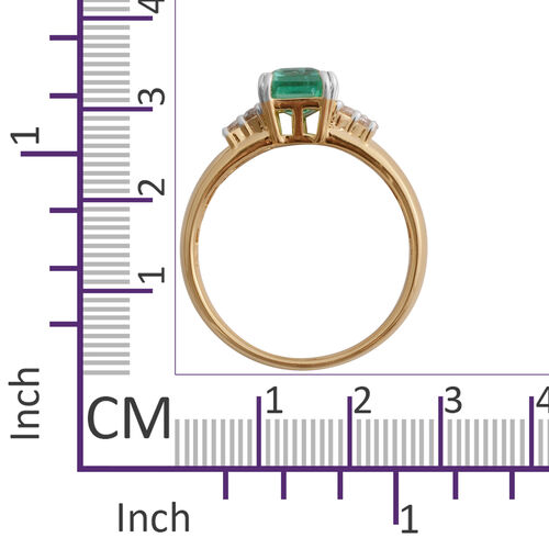 Signature Collection-  ILIANA 18K Yellow Gold AAA Boyaca Colombian Emerald and Diamond (SI/G-H) Ring 1.500 Ct.