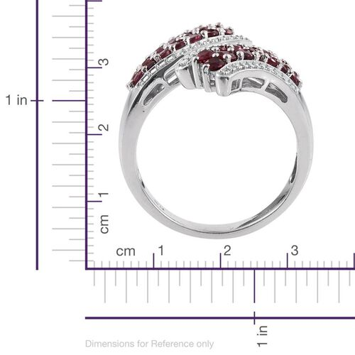 Mahenge Spinel (Rnd) Crossover Ring in Platinum Overlay Sterling Silver 1.750 Ct.