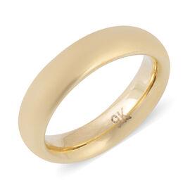 Hong Kong Close Out- 9K Yellow Gold Band Ring, Gold wt 1.85 Gms.