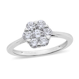 RHAPSODY 1 Carat Diamond Pressure set Floral Ring in 950 Platinum 4.51 Grams IGI Certified VS EF