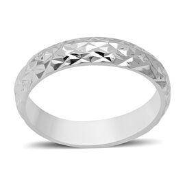 Diamond Cut Band Ring in Sterling Silver 4.05 Grams