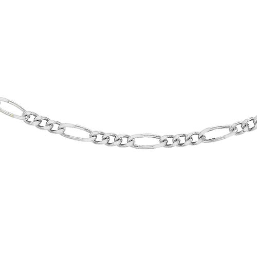 Sterling Silver Figaro Chain (Size 18), Silver wt 3.30 Gms