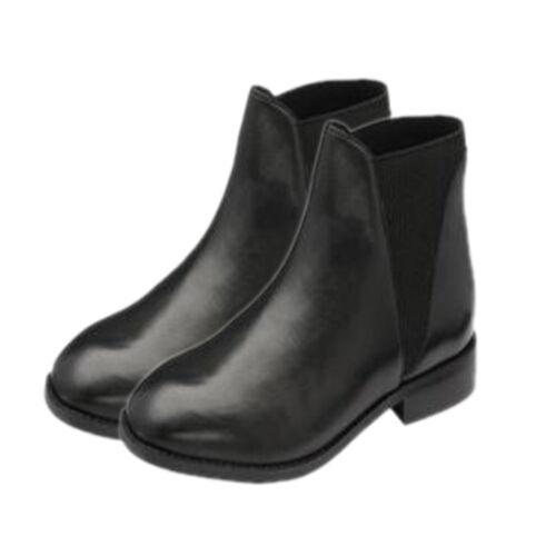 Ravel Black Sabalo Leather Ankle Boots (Size 3)