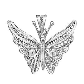 Royal Bali Collection - Sterling Silver Butterfly Pendant