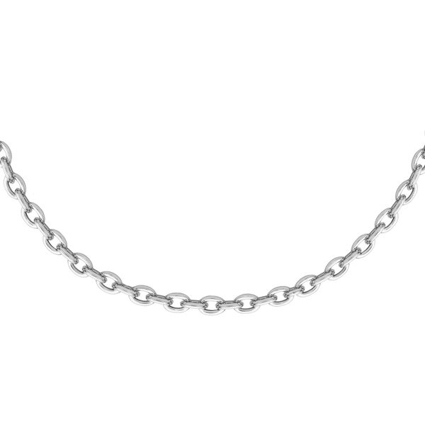 Sterling Silver Trace Chain (Size 18) with Spring Ring Clasp